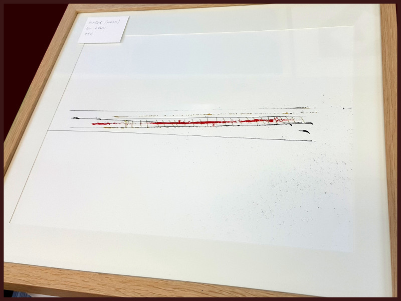 Stitches I by Ian Lewis, Drawing at Koru Art Gallery, New Plymouth, NZ