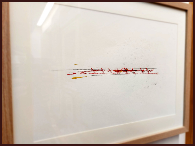 Stitches II by Ian Lewis, Drawing at Koru Art Gallery, New Plymouth, NZ